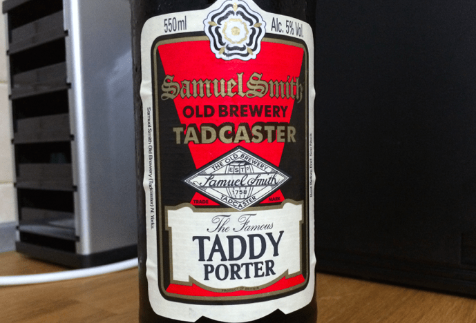 Photo of Samuel Smith's Taddy Porter, gust dichisit